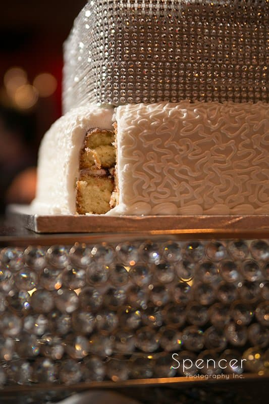 wedding cake missing slice