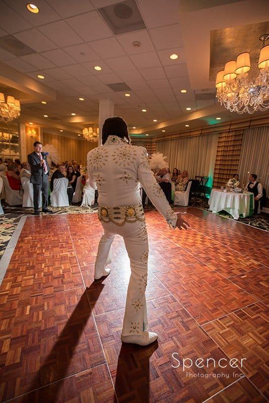 Elvis impersonator at Cleveland Crown Plaza wedding reception