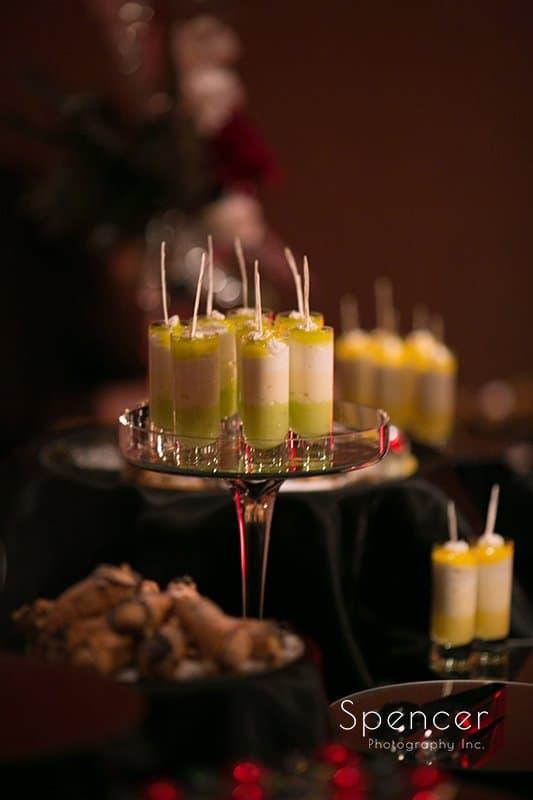 wedding reception desserts at Galaxy Restaurant wedding reception
