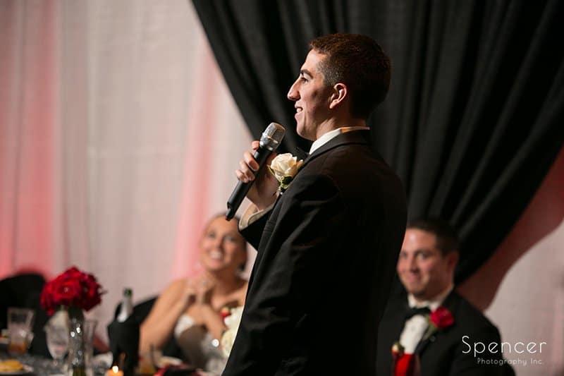 best man speech at Galaxy Restaurant