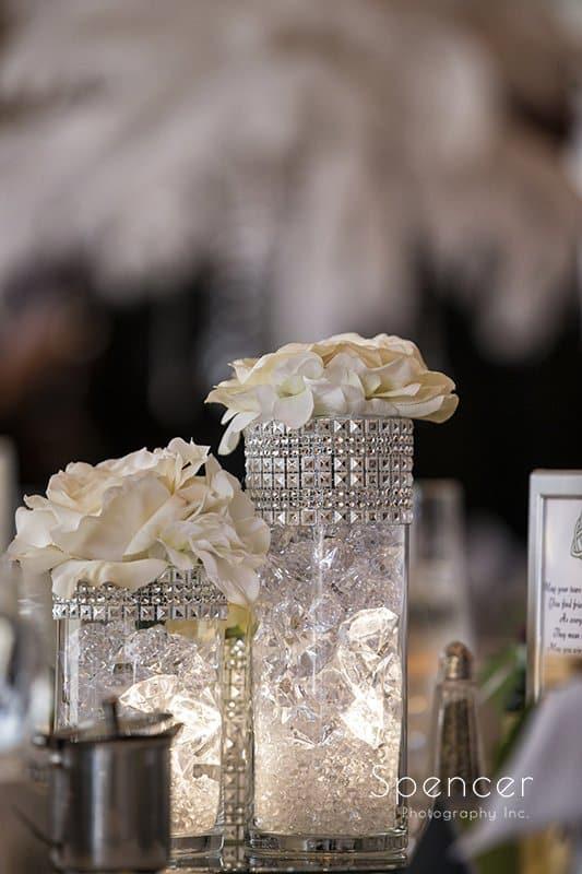 wedding reception centerpiece at Crown Plaza Cleveland