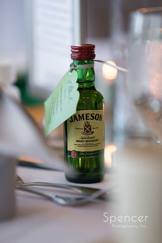 small Jameson bottle reception detail at Cleveland Crown Plaza