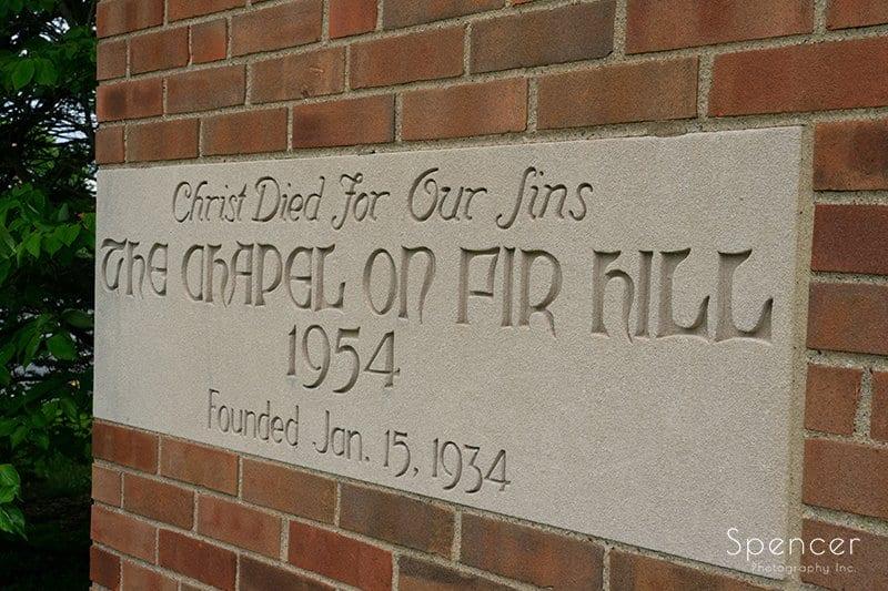 cornerstone of The Chapel in Akron Ohio