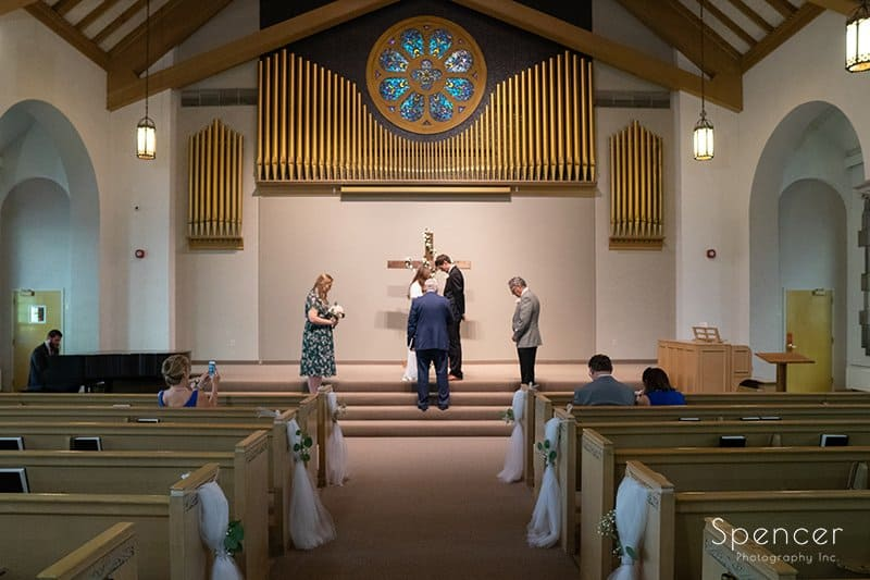 wedding ceremony at The Chapel in Akron