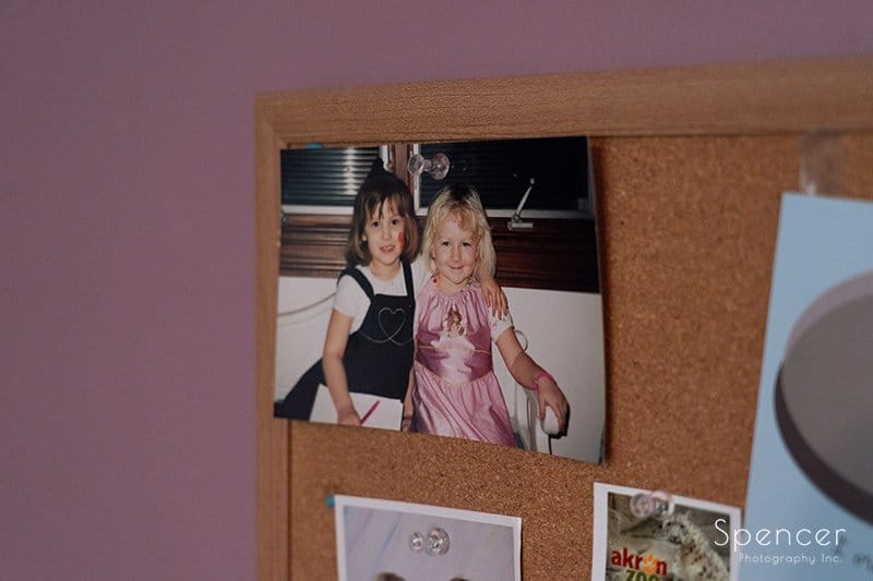 picture of bride and maid of honor when they were little