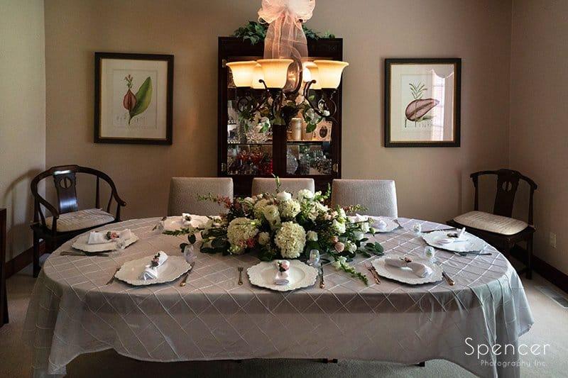 wedding dinner table set up