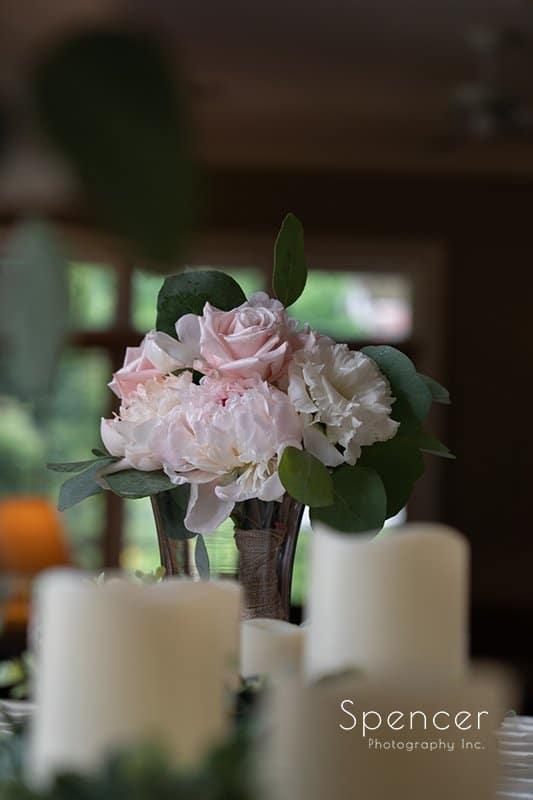Pams Posies wedding table centerpiece