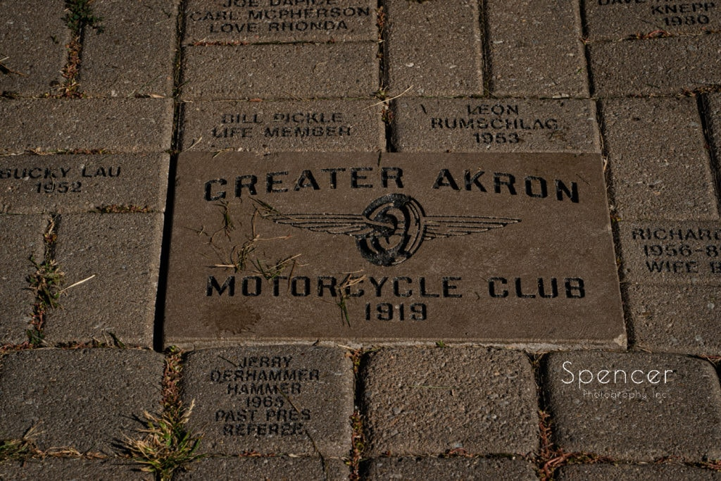 wedding at greater akron motorcycle club
