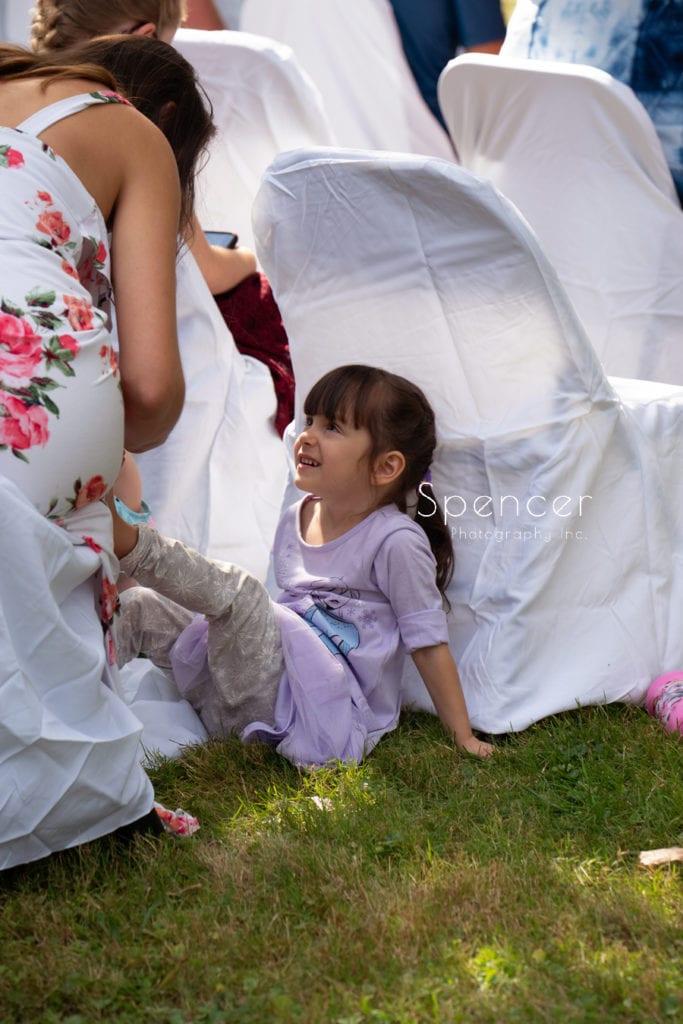 little girl at akron wedding