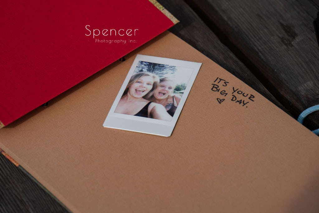 sign in book at Akron Merriman Valley wedding