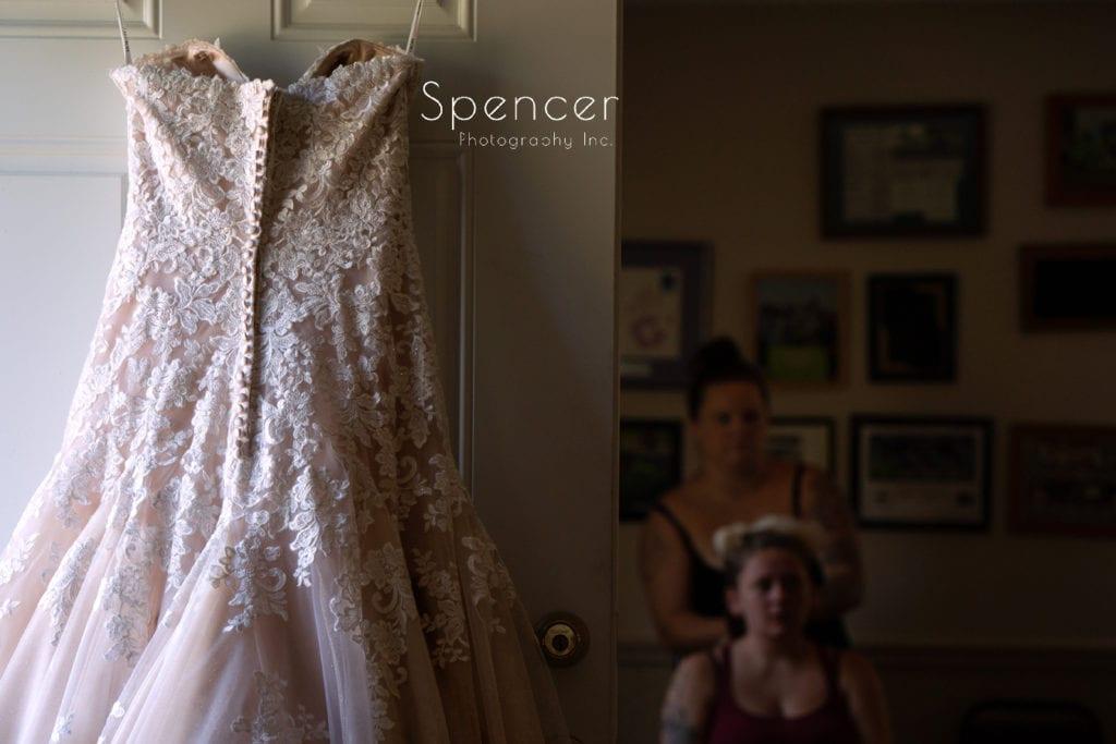 wedding dress at akron wedding