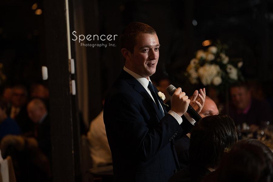 best man speech at wedding reception at Hillbrook