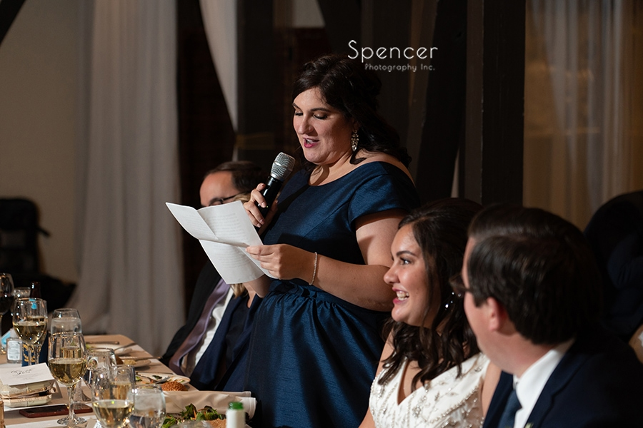 maid of honor speech at the Club at Hillbrook