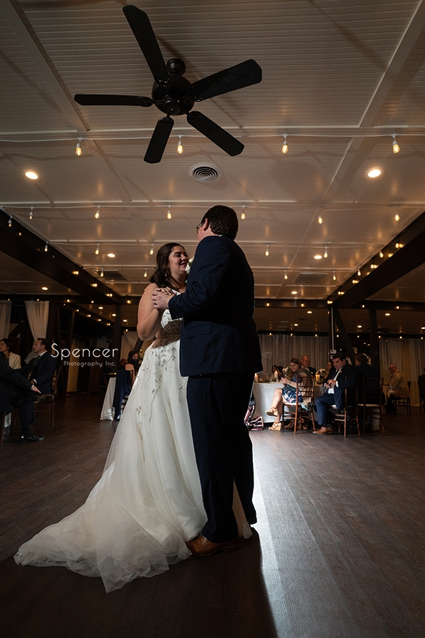 first dance at wedding reception at the Club at Hillbrook