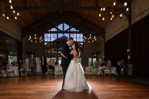 first dance at wedding reception at Stonewater Cleveland