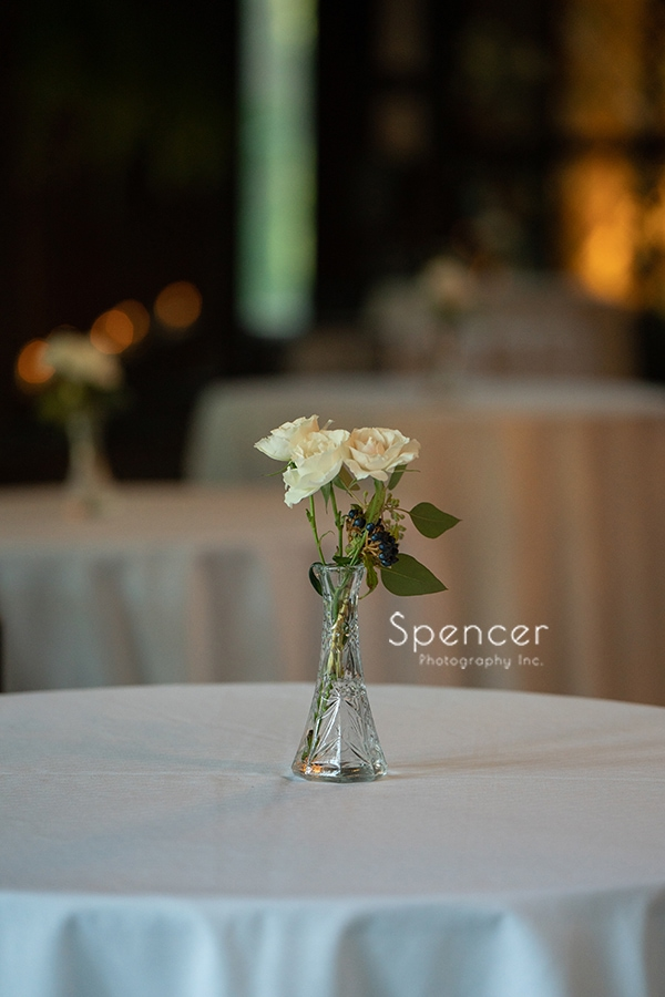 wedding reception flower at the Club at Hillbrook