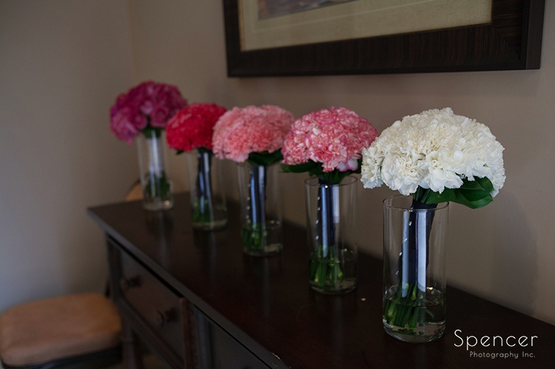 wedding day flowers at Troon North Golf Club