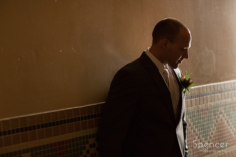 groom picture before his troon north wedding ceremony