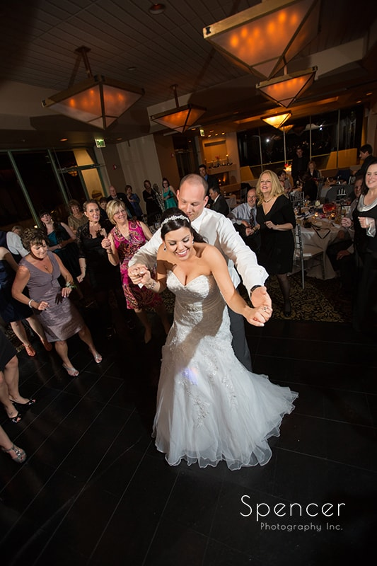 groom dancing with bride at Troon North reception