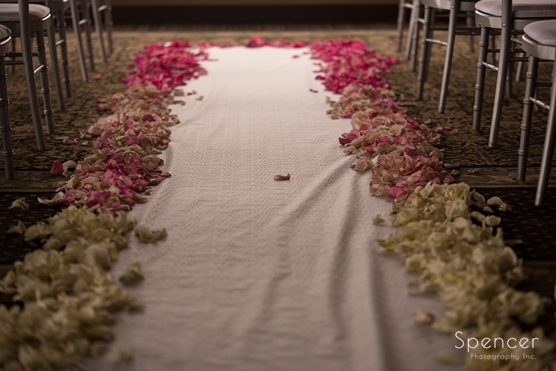 the wedding aisle at Troon North in Scottsdale