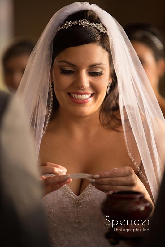 bride during wedding ceremony in Scottsdale