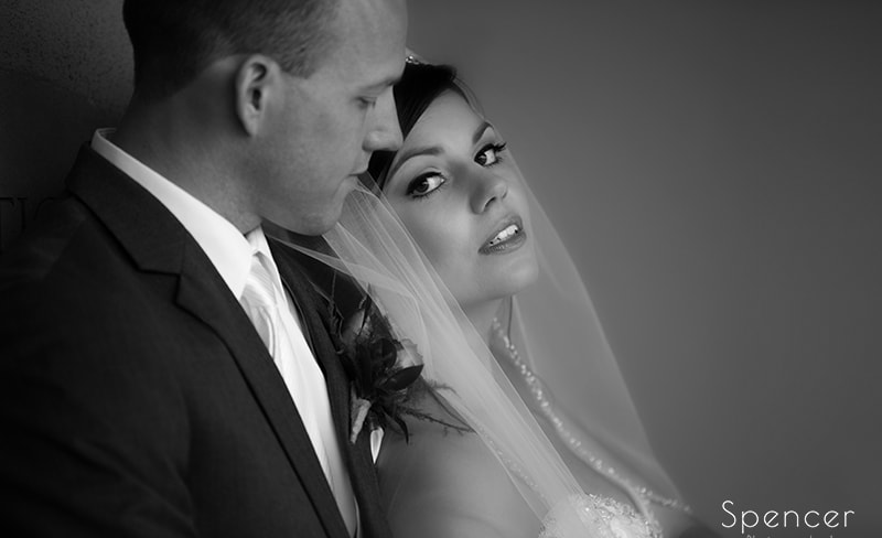 black and white wedding picture at Troon North