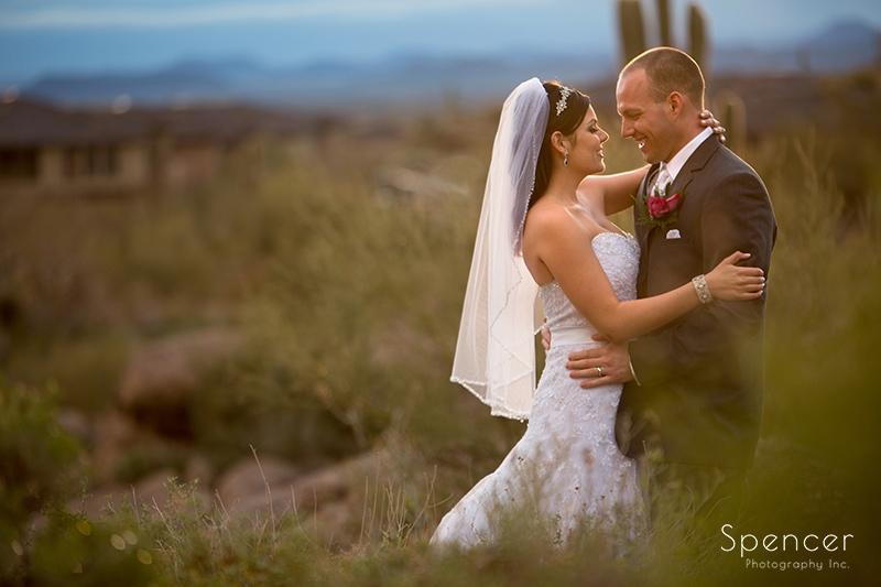bride and groom after wedding in Scottsdale Arizona