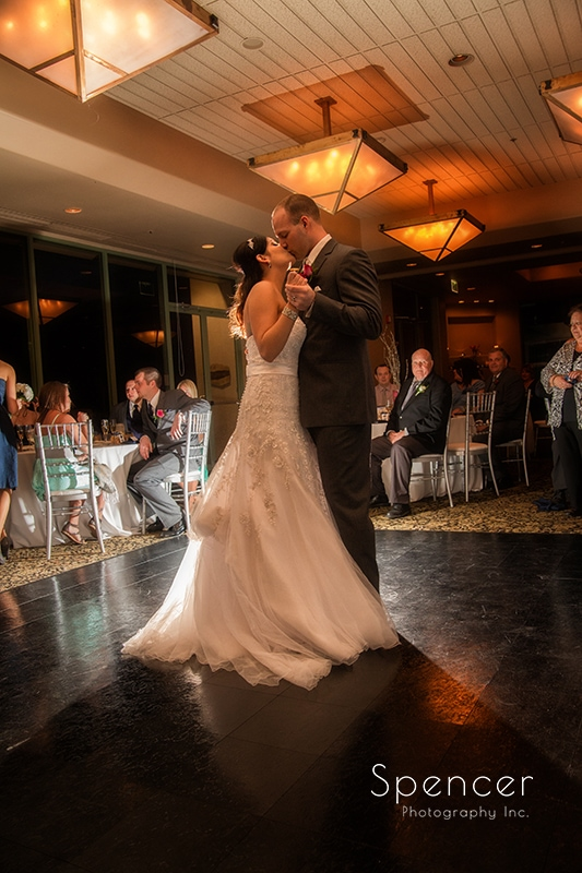 first dance at wedding reception at Troon North