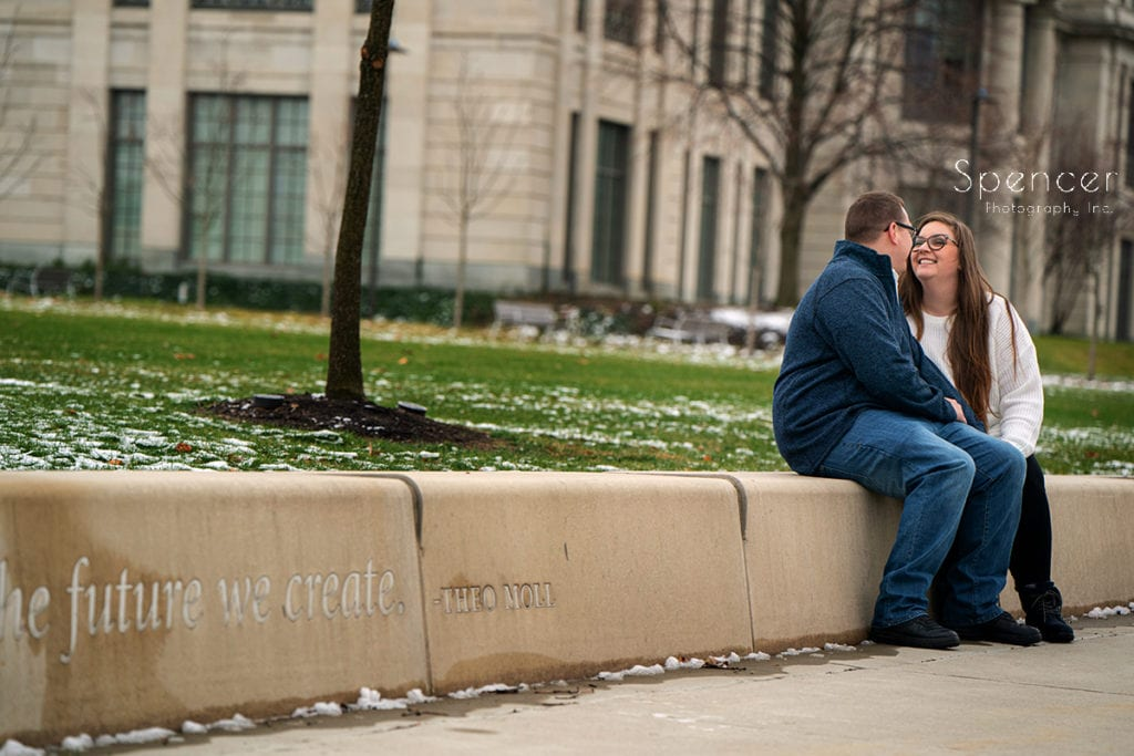 engagement picture at Case Western Reserve