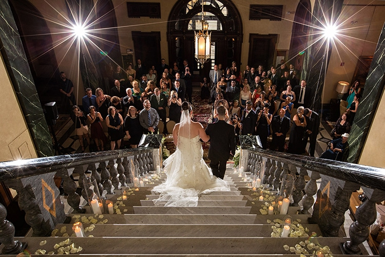 exiting wedding at union club cleveland