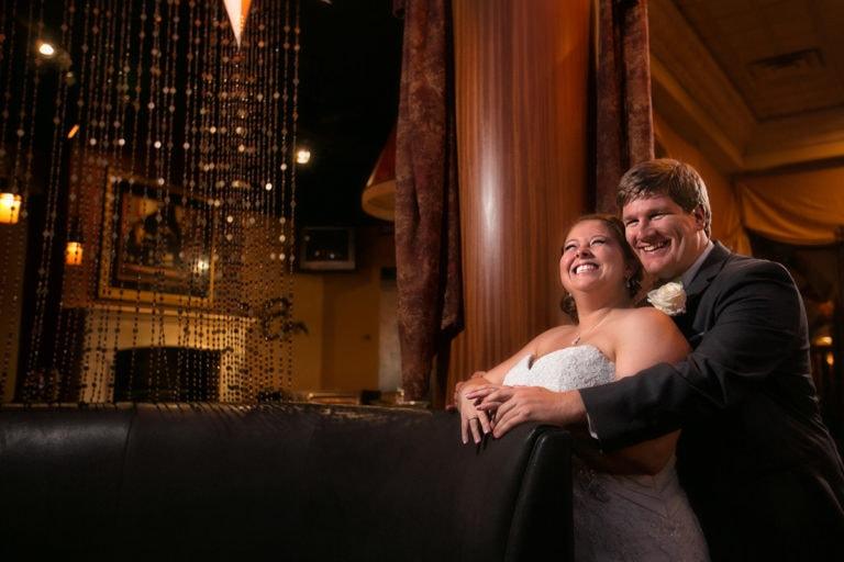 cleveland wedding couple laughing