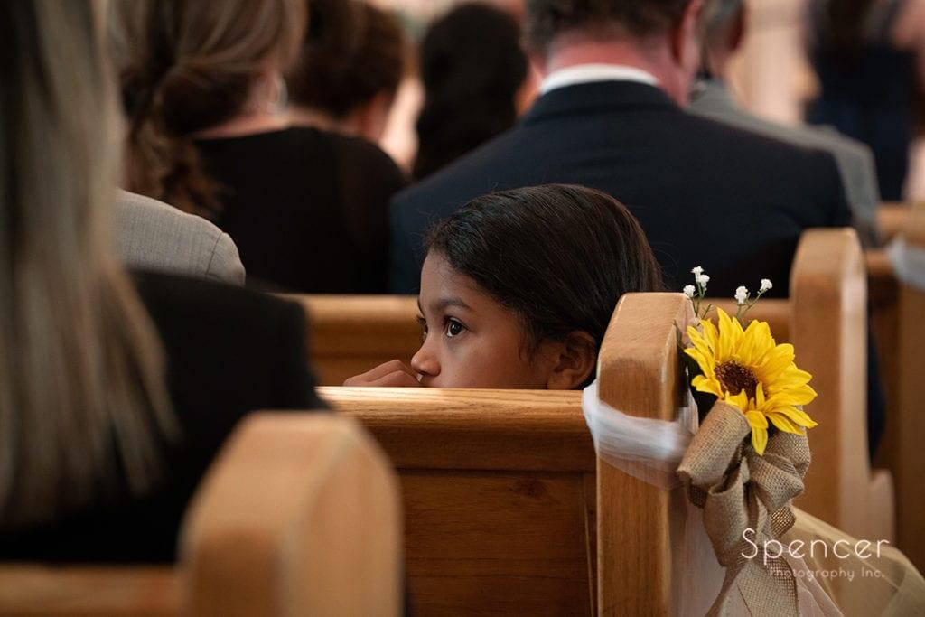 flower girl at Beaver Falls wedding ceremony