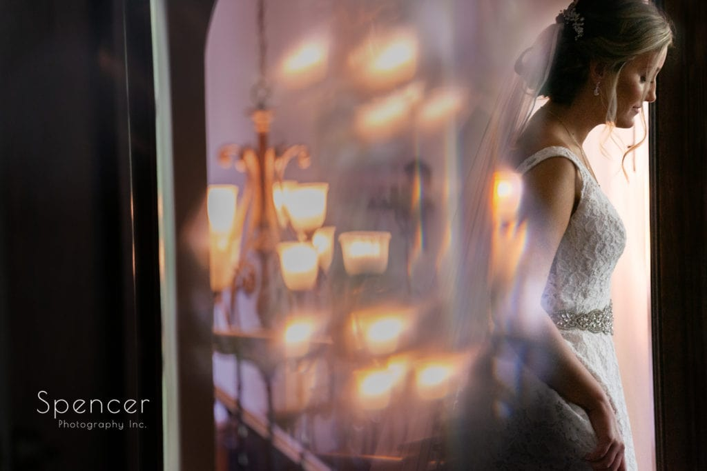 abstract picture of bride at O'Neil House