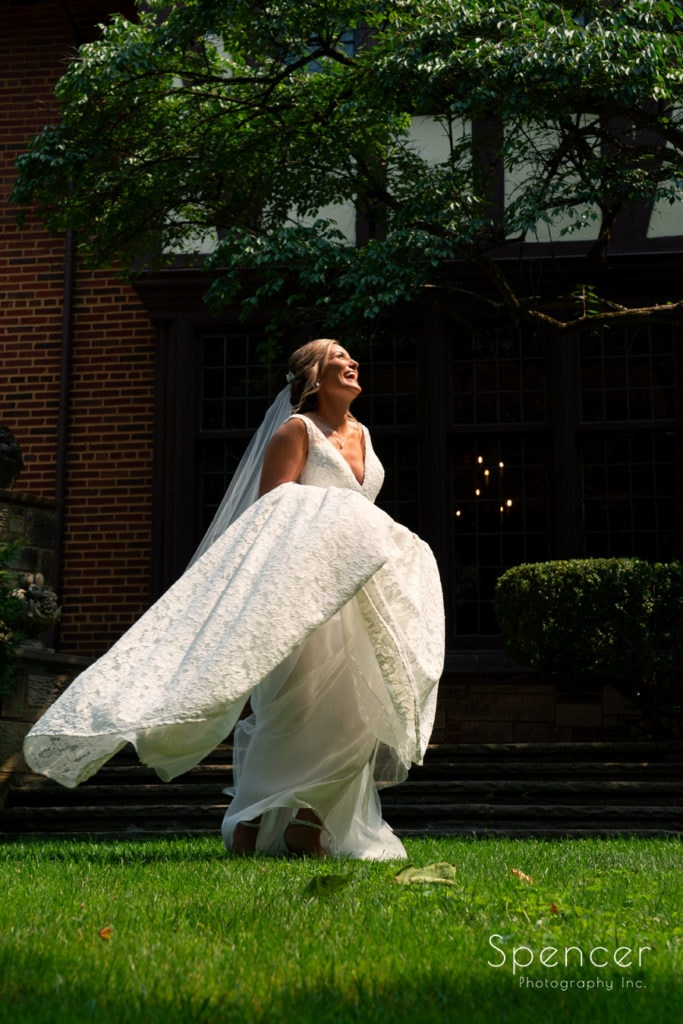 aughing bride at O'Neil House Akron