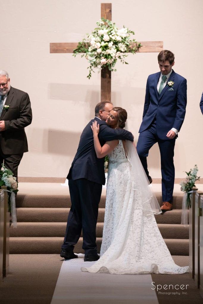 dad gives away bride