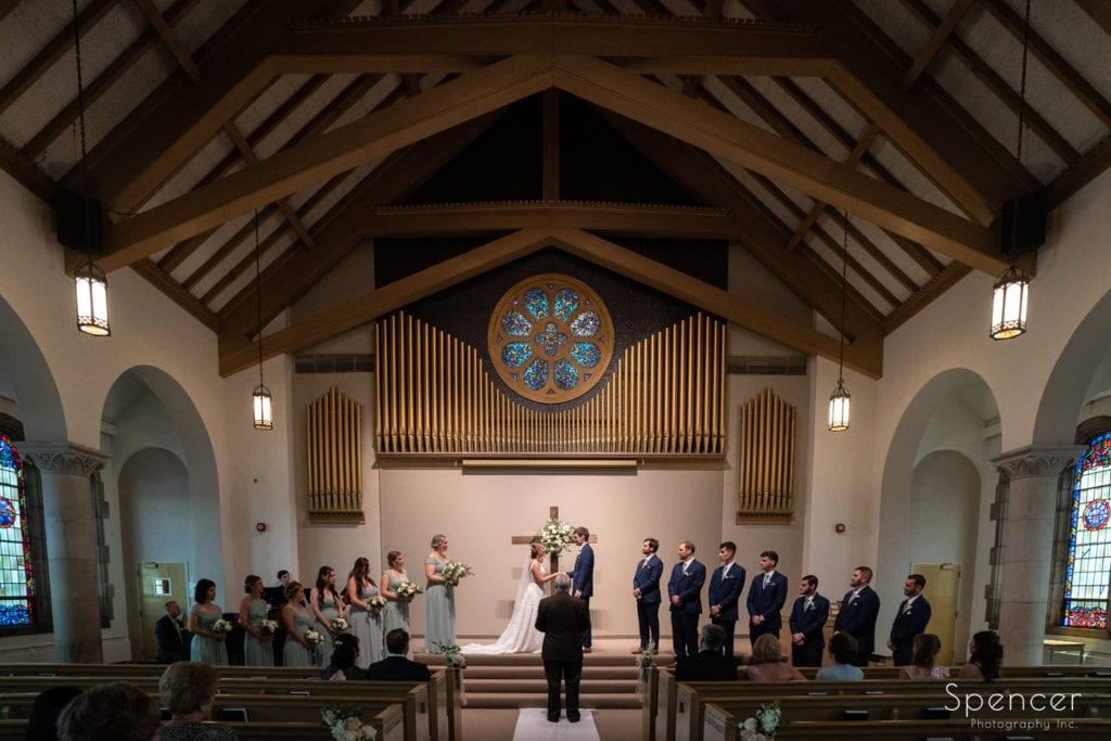 wedding ceremony at The Chapel Akron Ohio