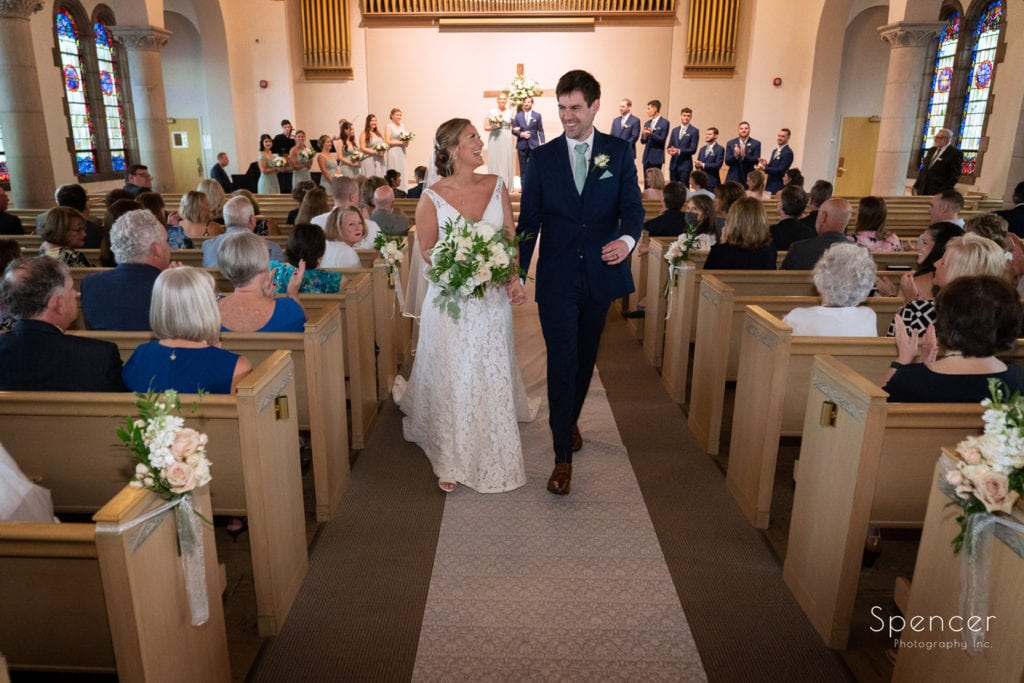 wedding recessional at The Chapel Akron