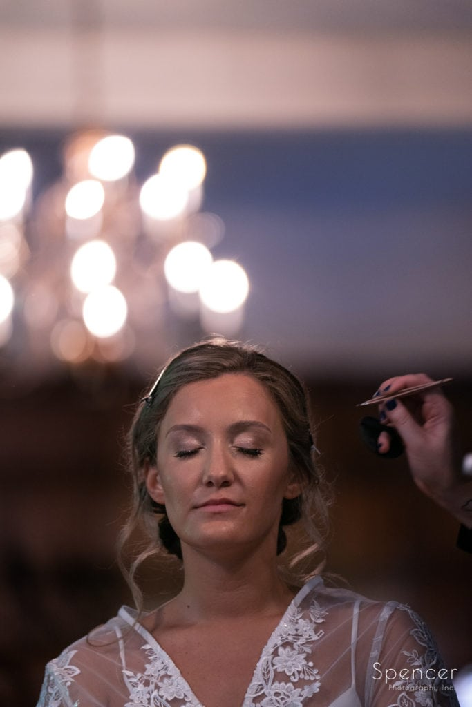 wedding day make-up at O'Neil House Akron