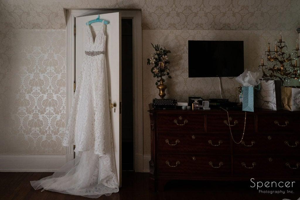 wedding dress at O'Neil House Akron