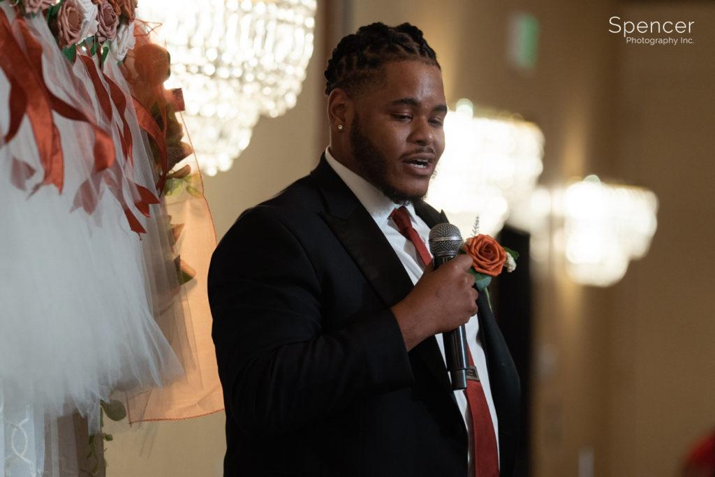 best man speech at Cleveland Doubletree reception