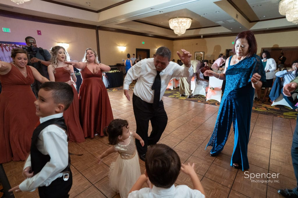 wedding guest dance at Cleveland Doubletree