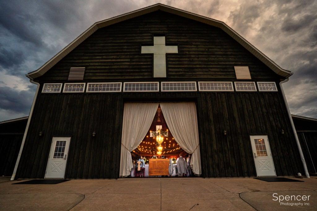 wedding reception at parker barn copley ohio