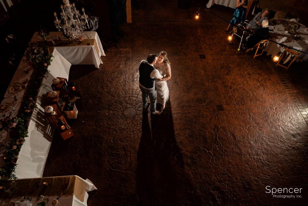 irst dance at parker barn wedding reception