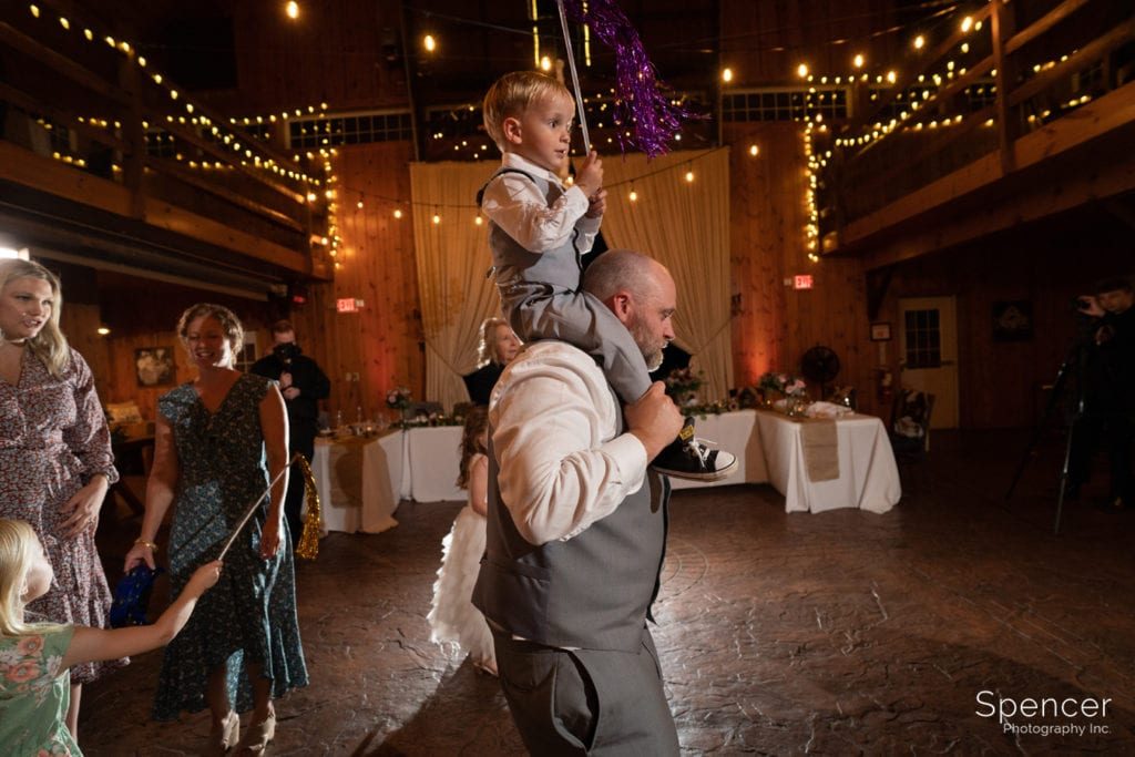 wedding guest dancing