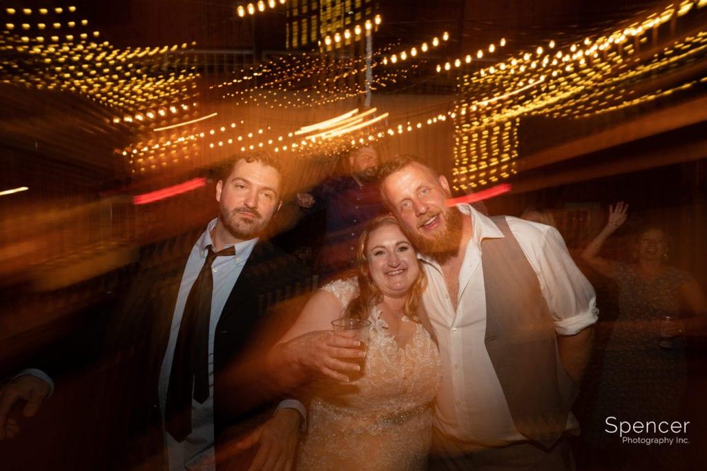 wedding reception picture of bride