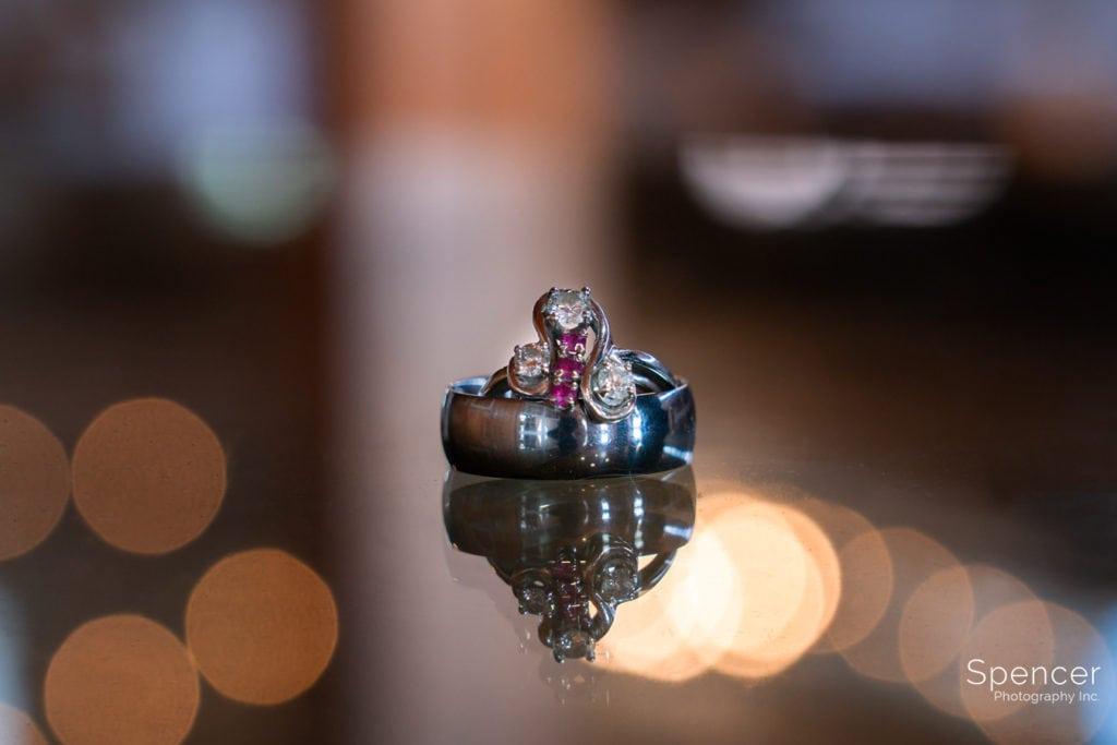 wedding rings at Parker Barn Copley