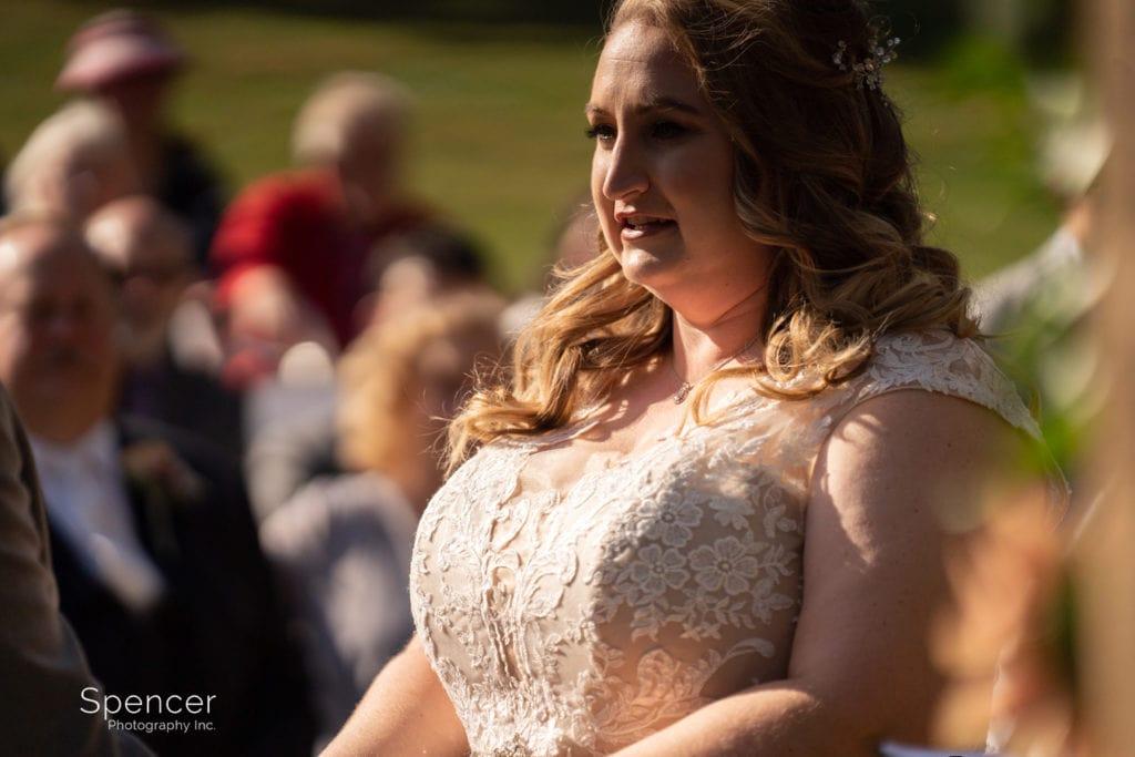 bride during wedding ceremony