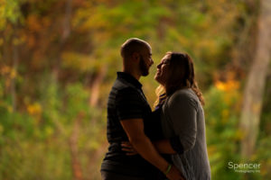 Engagement picture in Mill Stream Park