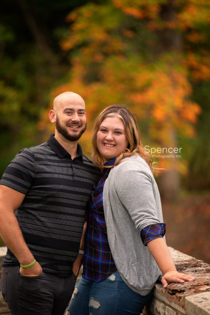 Engagement picture of couple in Mill Stream Park