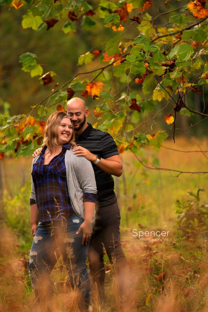 mill stream park engagement picture